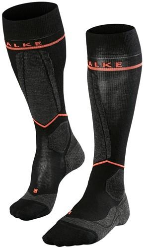 Falke SK Energizing Wool Women black-neon Rood 35-38 W2