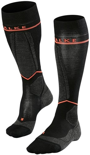 Falke SK Energizing Wool Women black-neon Rood 35-38 W1