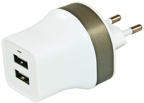 Haba 230V USB lader 2.2 A met 2x USB