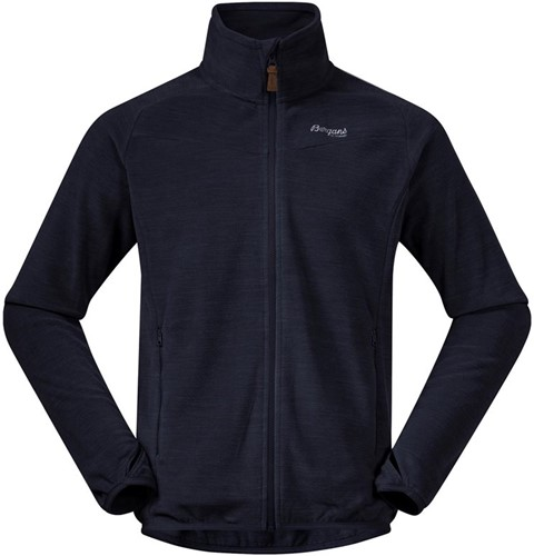Bergans Hareid Fleece Jacket NoHood dark navy mel M