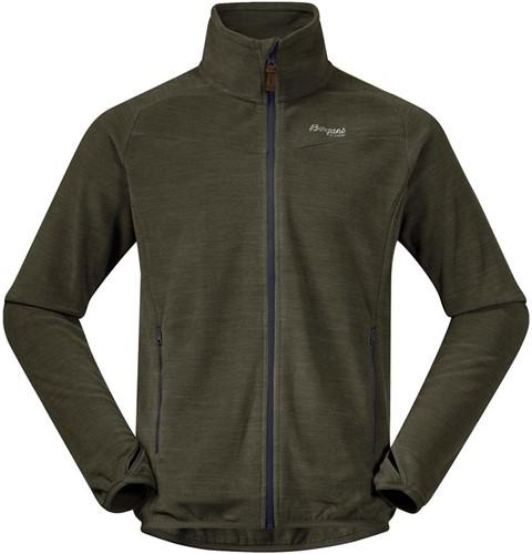 Bergans Hareid Fleece Jacket NoHood seaweed mel M