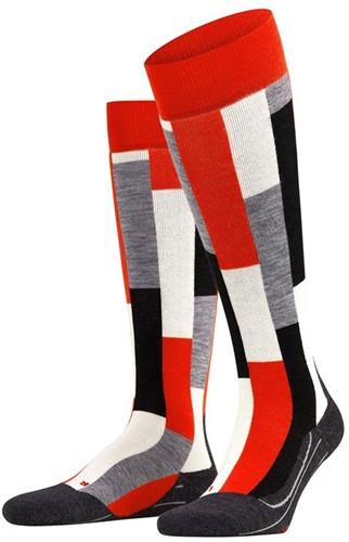 Falke SK4 Brick Women ski socks samba orange 35-36