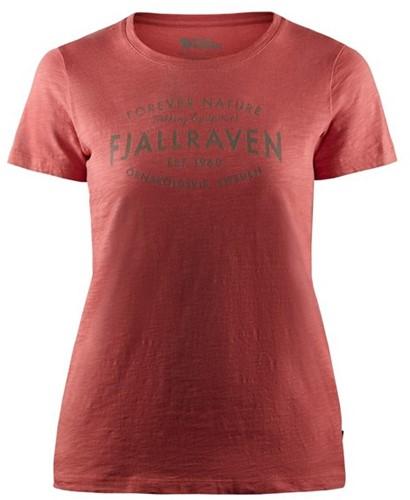 Fjallraven Est. 1960 T-Shirt dames rood M