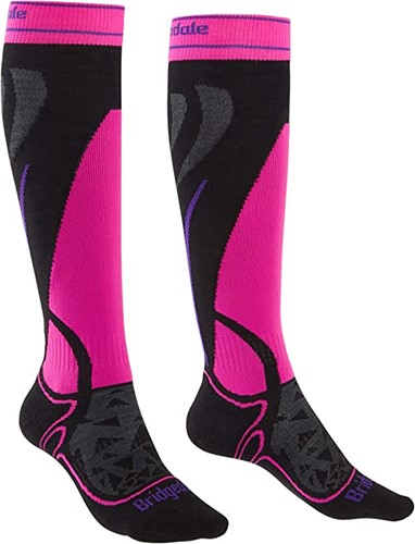 Bridgedale Midweight Merino W ski socks gunmetal/turquoise M