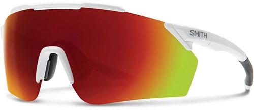 Smith Ruckus Matte White + ChromaPop Red Mirror Lens