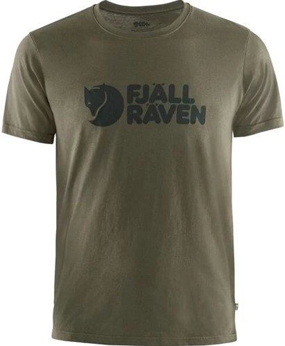 Fjallraven Logo T-shirt heren olijf M