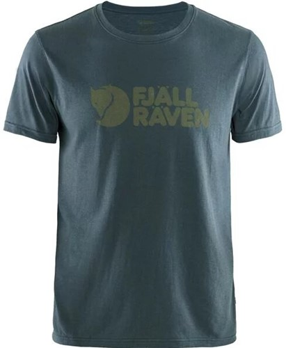 Fjallraven Logo T-shirt heren marine L