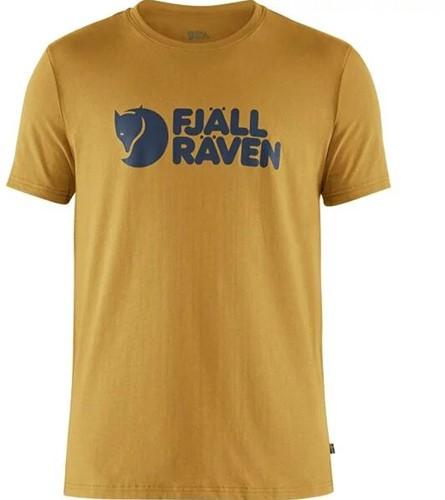 Fjallraven Logo T-shirt heren geel XL