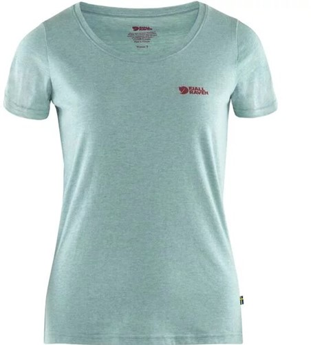 Fjallraven Logo T-shirt dames lichtblauw M