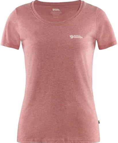 Fjallraven Logo T-shirt W raspberry red-melange L