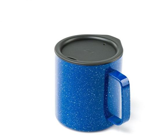 GSI Outdoors Glacier Stainless 0.44L Camp Cup blue speckle