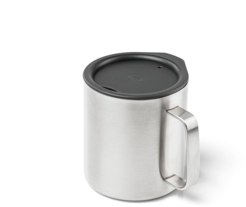 GSI Outdoors Glacier Stainless 0.44L Camp Cup brushed metal