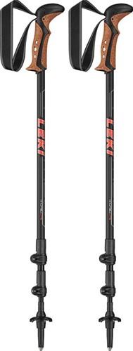 Leki Khumbu Lite trekkingstokken zwart/rood 100-135 cm