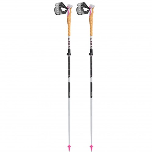 Leki MCT Vario Lady trail running poles white/black 100-120 cm