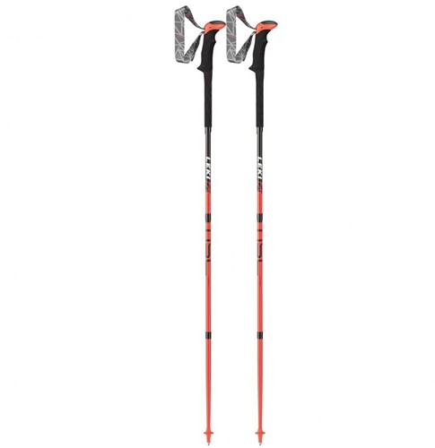 Leki Micro Stick Carbon neon-red/black/white 120 cm