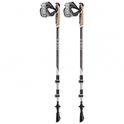 Leki Traveller Alu nordic walking stokken wit 90-130 cm