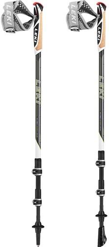 Leki Traveller Carbon nordic walking stokken antraciet 90-130 cm