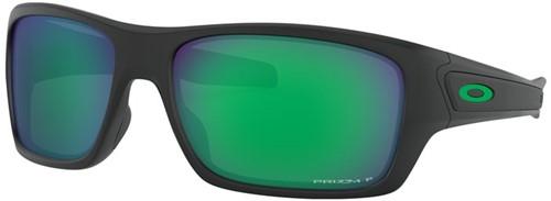 Oakley Turbine Matzwart Lens Jade Gepolariseerd Zonnebril