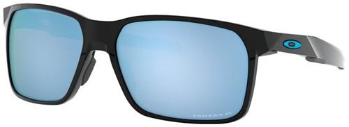 Oakley Portal X Gepolijst Zwart Lens Diep Water Gepolariseerd Zonnebril