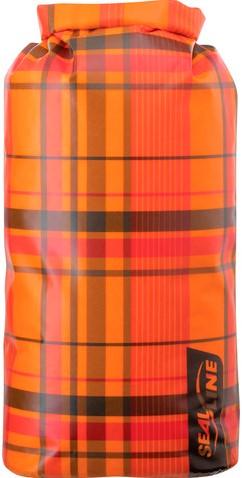 SealLine Discovery Dry Bag 30L orange plaid