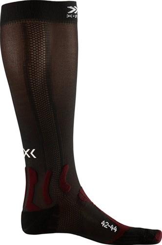 X-Socks Run Energizer sokken rood/zwart 45-47