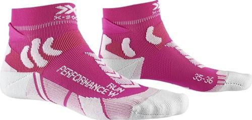 X-Socks Run Performance sokken dames roze/lichtgrijs 39-40