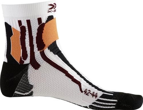X-Socks Run Speed Two sokken wit/zwart 45-47