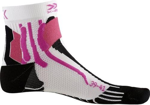 X-Socks Run Speed Two sokken dames wit/zwart/roze 39-40
