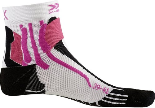 X-Socks Run Speed Two sokken dames wit/zwart/roze 41-42