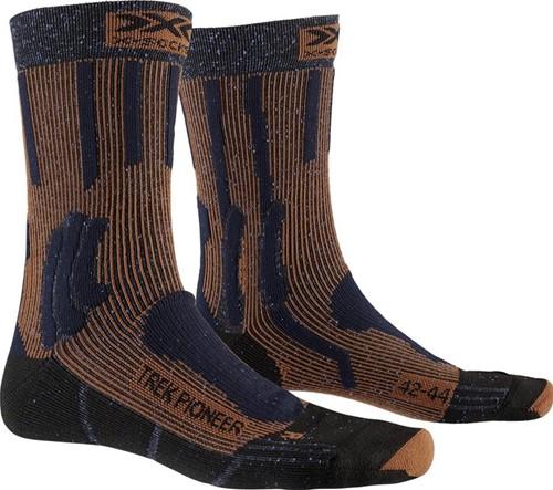 X-Socks Trek Pioneer sokken blauw/rood 45-47