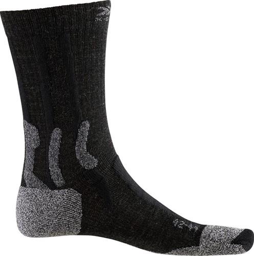 X-Socks Trek Silver sokken zwart/grijs 42-44