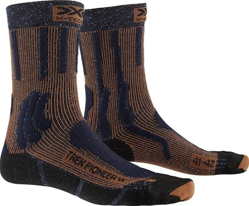 X-Socks Trek Pioneer W sokken blauw/rood 39-40